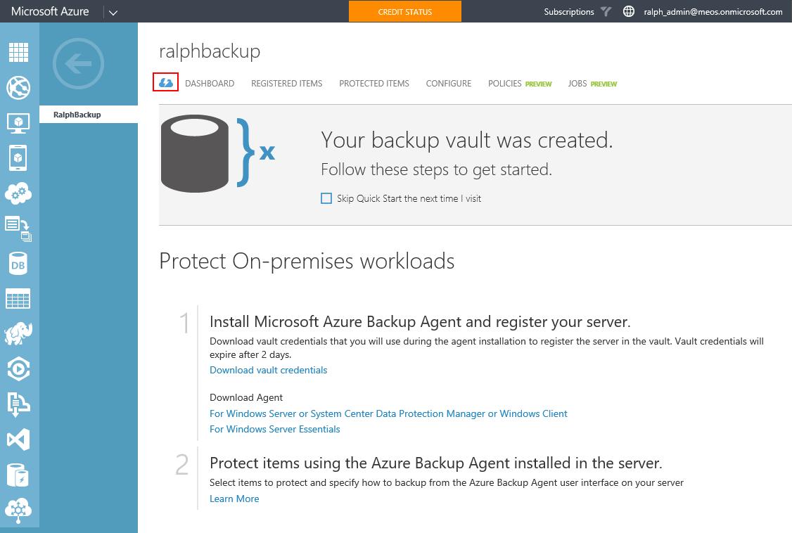 Backup your Windows 10 machine to Azure